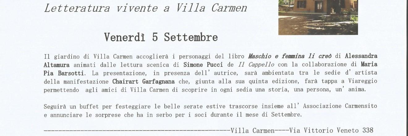 Viareggio, Villa Carmen, 5 settembre 2013