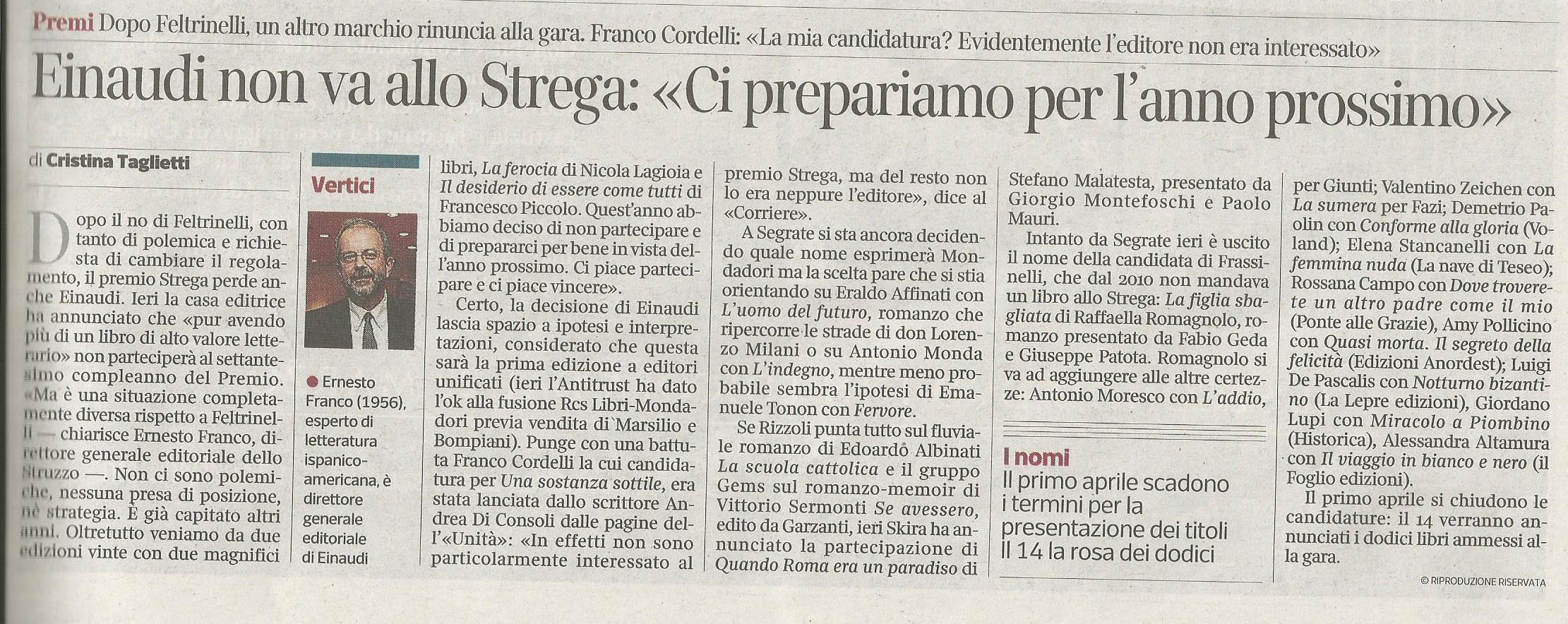 Corriere della Sera 24 marzo 2016