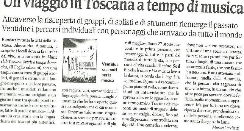 Corriere di Arezzo, 18 novembre 2012, recensione di Marisa Cecchetti