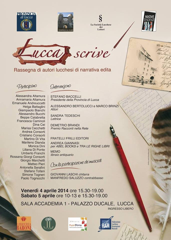 Lucca, Rassegna Lucca scrive, 4-5 aprile 2014