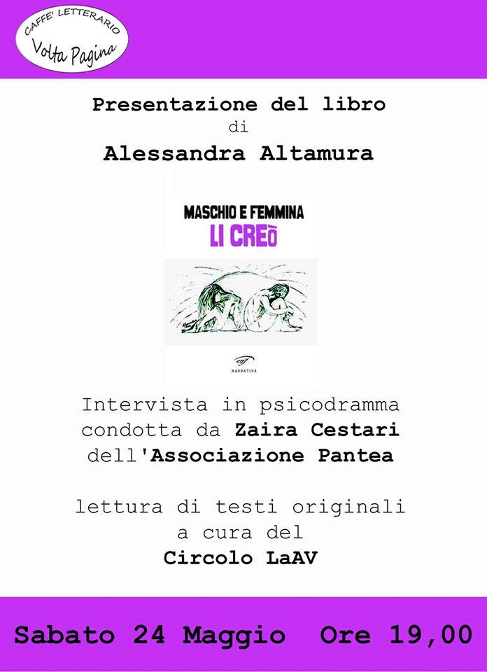 Pisa, Caffè letterario Volta Pagina, 24 maggio 2014